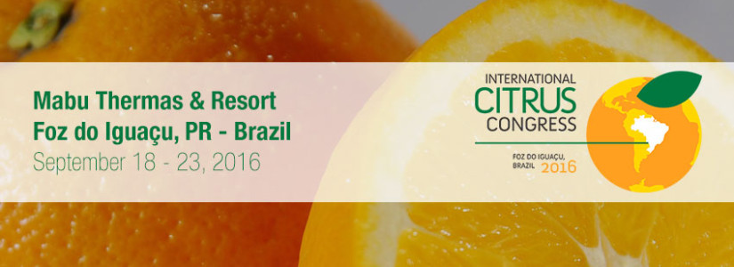 10º Simpósio de Citricultura Irrigada do GTACC e Internacional Citrus Congress 2016