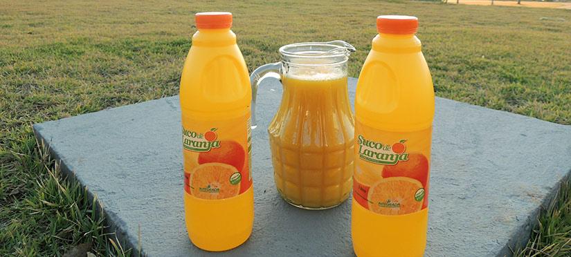 Suco de laranja processado pela Integrada em sua unidade de Uraí PR